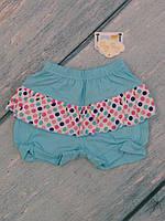 Детские пляжные шорты для девочки (кулир), р.74