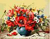 Картины по номерам Маки с полевыми цветами (NB294) 40 х 50 см (цветной холст) DIY Babylon Premium