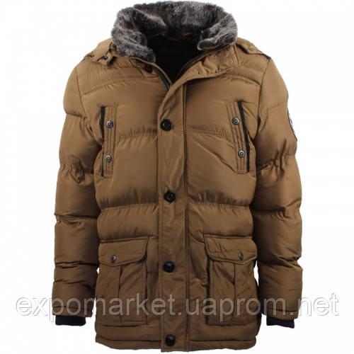 Теплая зимняя куртка на синтепоне