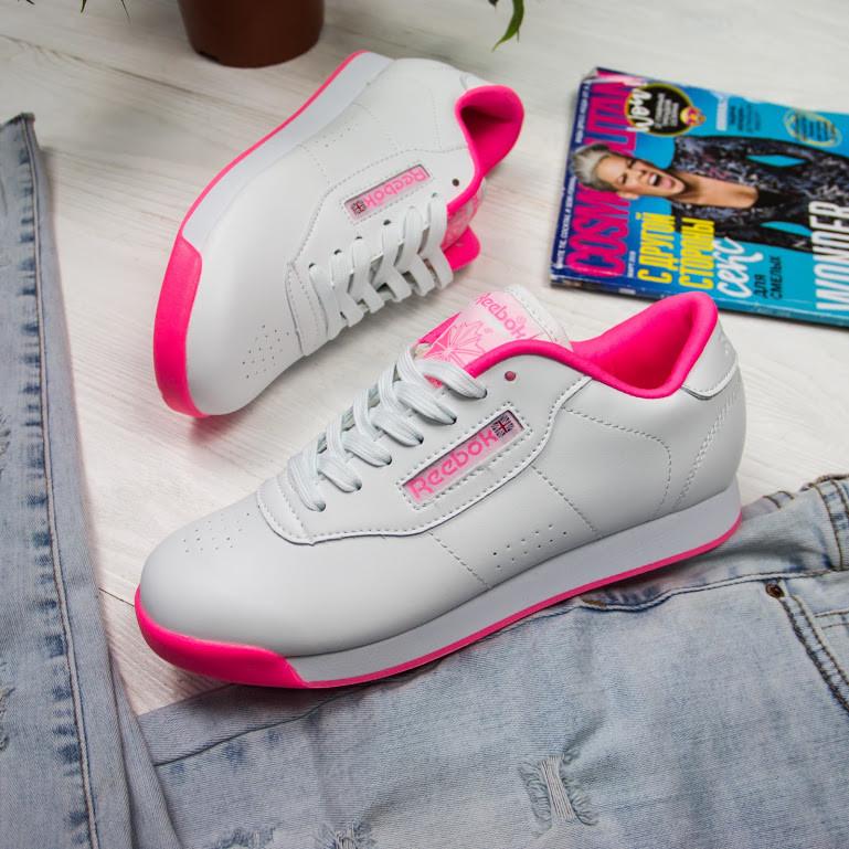 Женские кроссовки в стиле Reebok Princess White/Pink (36, 38, 40 размеры)