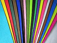 Фетр для рукоделия, набор 20 листов 20*30 см разного цвета;жёсткий, толщина 1 мм