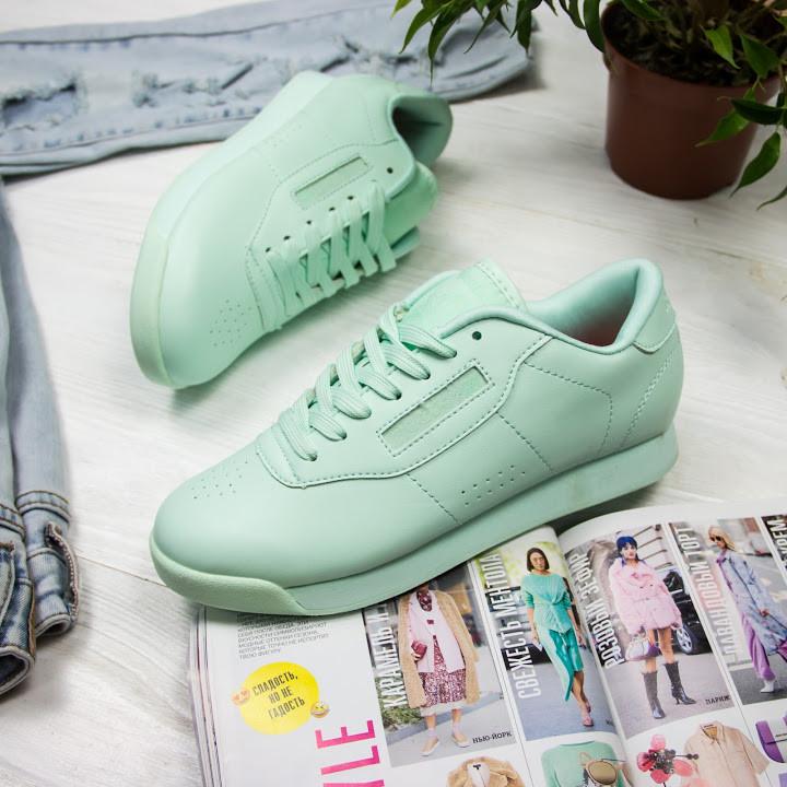 Женские кроссовки в стиле Reebok Princess Mint (37, 40 размеры)