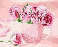 Картина-раскраска Идейка Чайные розы (KH2923) 40 х 50 см