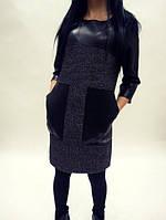 Платье с карманами  вш682