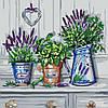 Картина по номерам без коробки Идейка Красота Прованса (KHO2210) 40 х 40 см