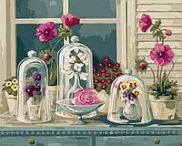 Раскраска по номерам без коробки Идейка Цветочное разнообразие (KHO2927) 40 х 50 см, фото 1