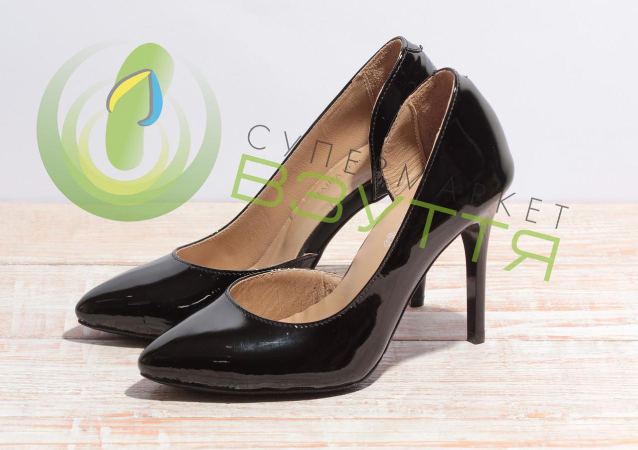 Туфли-лодочки женские из натуральной лаковой кожи Наша версия 820 чл 37размеры