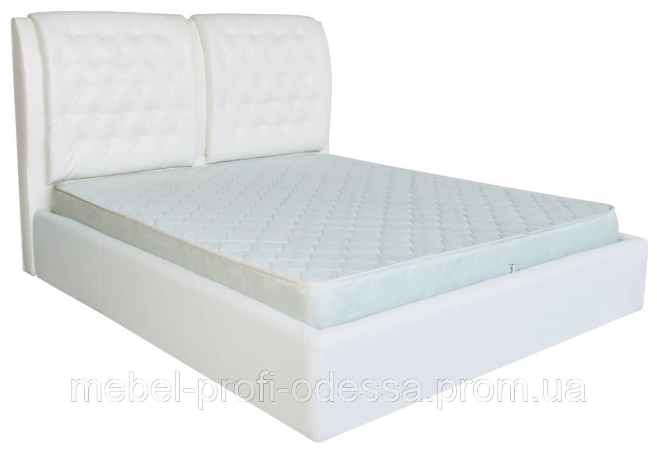 Двуспальная Кровать Вегас с мягким изголовьем