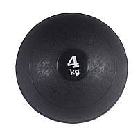 Медбол (медицинский мяч) для кроссфита SportVida Medicine Ball 4 кг SV-HK0058 Black