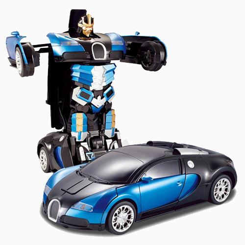 Машинка робот-трансформер Bugatti Veyron на радио управлении