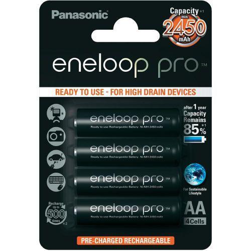 4шт аккумулятор Panasonic Eneloop Pro AA 2450 mAh
