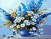 Картина раскраска DIY Babylon Дельфиниум и ромашки худ Горбатенькая Татьяна (SW030) 40 х 50 см