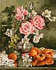 Картина по номерам без коробки Розы и персики Худ Ира Ром-Лоренц (BK-GX9269) 40 х 50 см