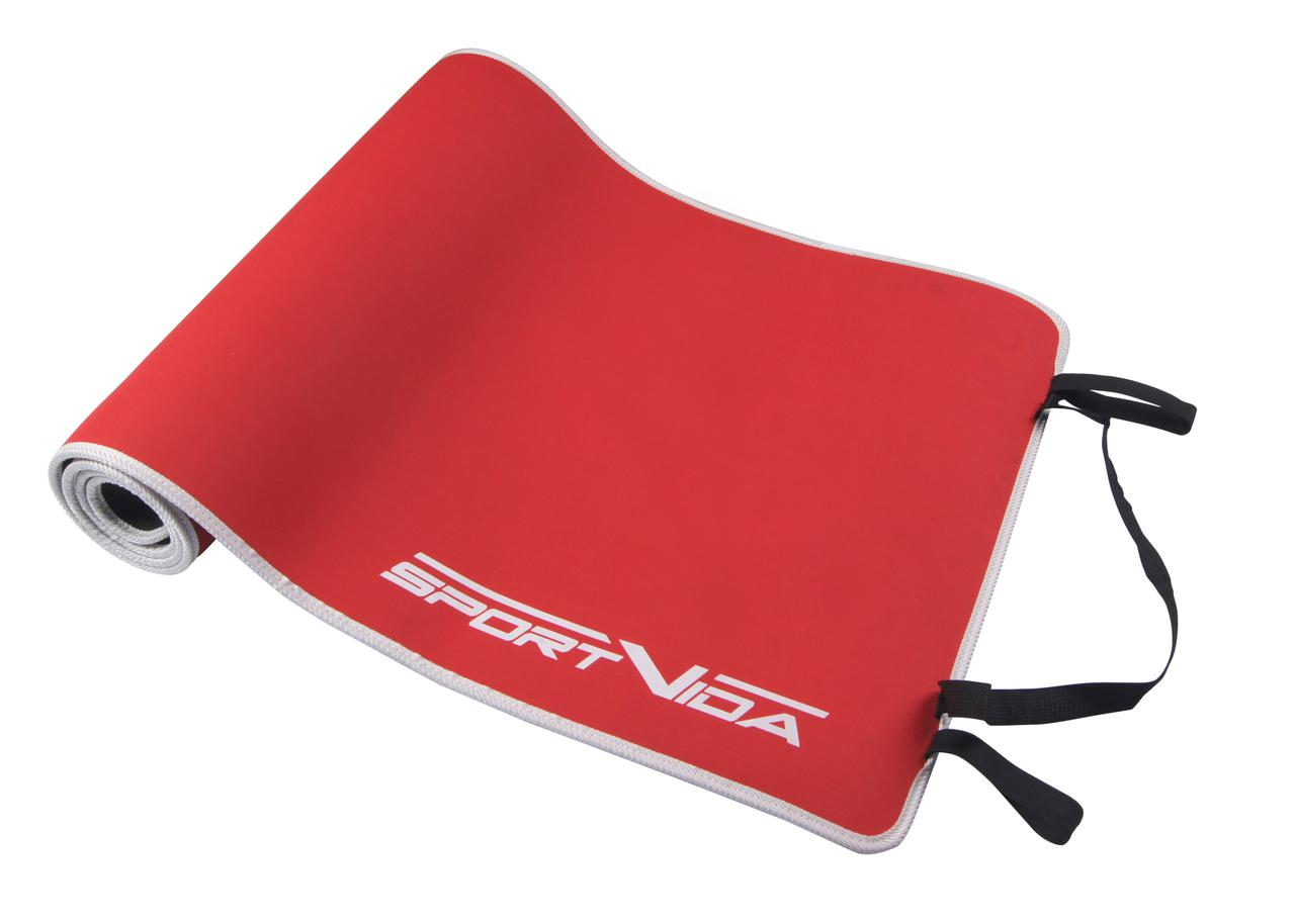 Коврик (мат) для йоги и фитнеса SportVida Neopren 6 мм SV-HK0039 Red