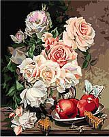 Картина по номерам без коробки Розы с яблоками и медовыми сотами Худ Ира Ром-Лоренц (BK-GX9746) 40 х 50 см, фото 1