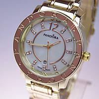 Женские наручные часы PANDORA (Пандора) C10 Gold перламутр , фото 1