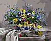 Картина по номерам на холсте DIY Babylon Анютины глазки и незабудки худ Ефремов, Андрей (VP115) 40 х 50 см