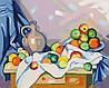 Раскраска по номерам Натюрморт Поль Сезан (RS-N000133) 45х35 см