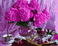 Картина раскраска по номерам без коробки Черешневый натюрморт (BK-GX5071) 40 х 50 см, фото 1