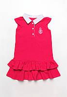 Платье для девочки из лакосты с волнами 4-7 лет