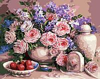 Картина по номерам Чайные розы и сливы (AS0006) 40 х 50 см ArtStory, фото 1