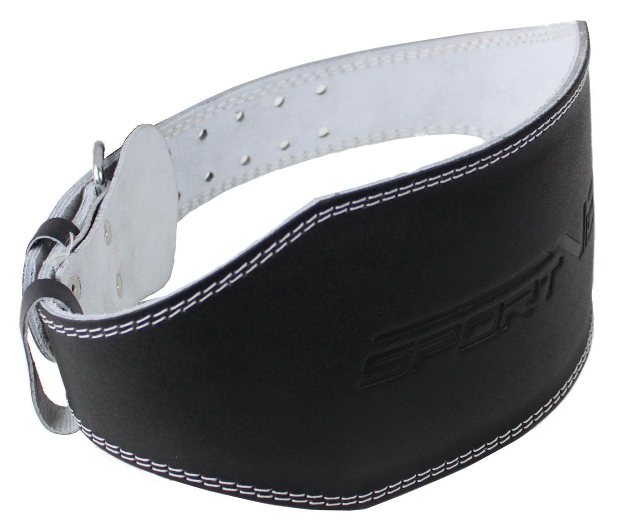 Пояс для тяжелой атлетики с экокожи SportVida SV-AG0069 (XXL) Black