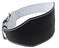 Пояс для тяжелой атлетики с экокожи SportVida SV-AG0065 (S) Black, фото 1
