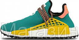 Мужские кроссовки Adidas NMD Human Trail Pharrell Williams (в стиле Адидас НМД) бирюзовые