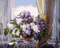 Живопись по номерам Сирень у окна (BRM8260) 40 х 50 см, фото 1