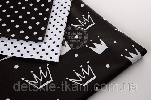 Черная ткань с принтом