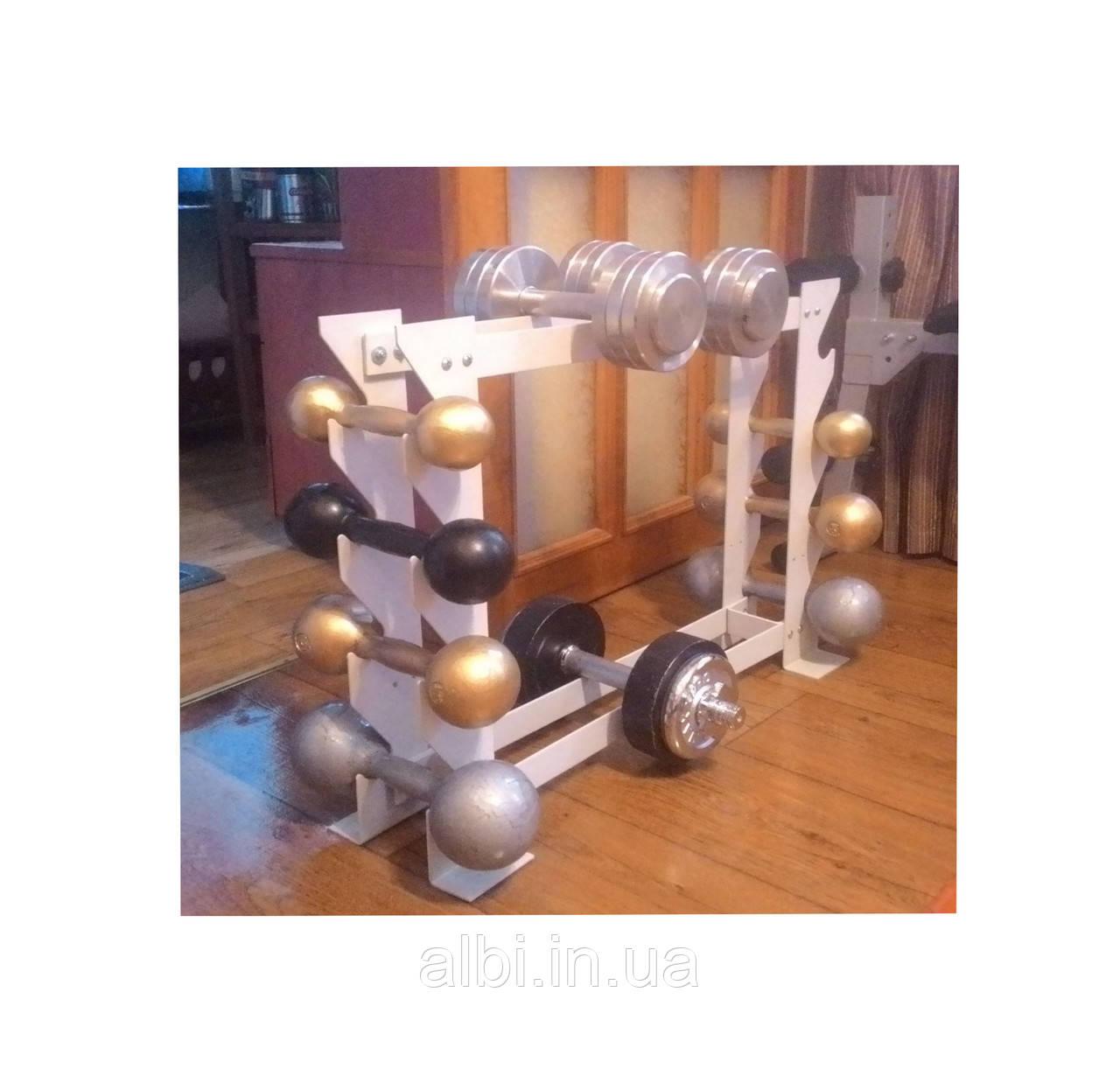 Стійка лава для фітнес гантелей і важкої атлетики