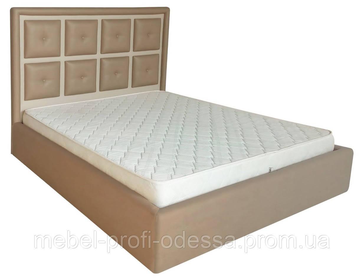 Двуспальная Кровать Виндзор с мягким изголовьем