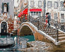 Раскраска на холсте без коробки Мост влюбленных Худ МакНейл Ричард (BK-GX8363) 40 х 50 см