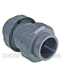 Обратный клапан ПВХ с внутренней резьбой D.63x2