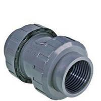 Обратный клапан ПВХ с внутренней резьбой D.63x2 , фото 1