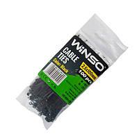 Хомуты Winso пластиковые черные 2.5x100 мм 100 шт 225100