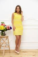 Платье летнее желтый, L