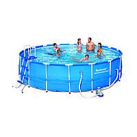 Каркасный бассейн Bestway 56113 (диаметр 5,49 м, круглый)