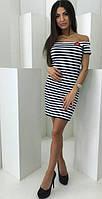 Платье в полоску лодочка  костр7800, фото 1