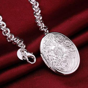 """Браслет с медальоном для фото """"My Darling"""" покрытие серебро, фото 2"""