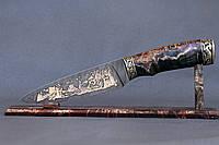 """Нож ручной работы из дамасской стали """"Викинги"""""""