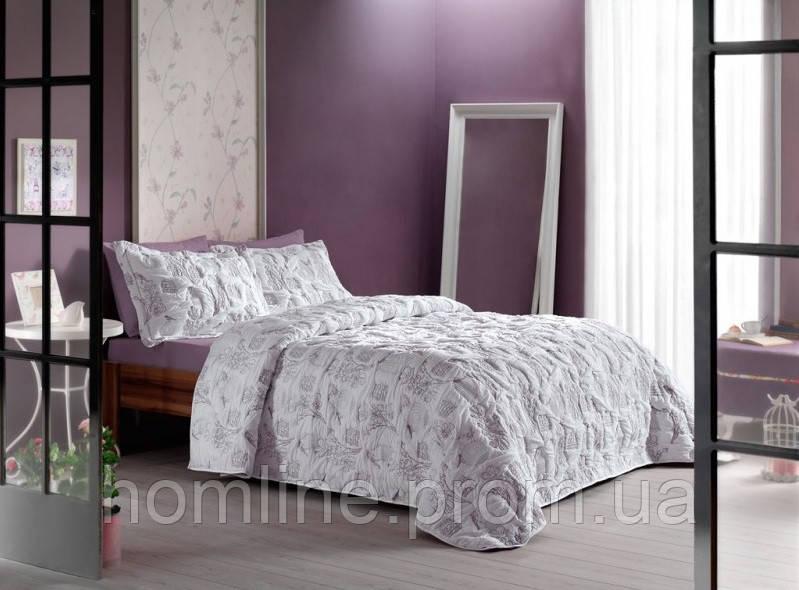 Покривало ТАС 250*260 з наволочками Comfort Monet v01 lila ліловий