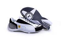 Кроссовки Puma Trionfo Lo GT II Ferrari White Black пума феррари мужские  женские реплика b14f65eb310
