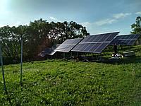 Сетевая солнечная станция 30 кВт (наземный каркас со сменным углом), фото 1