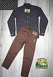 Рубашка Armani черная с белой точкой 7-8 лет, фото 3