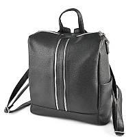 Черная сумка-рюкзак трансформер М158-47 матовый женский городского типа, фото 1