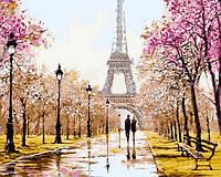 Картина по номерам Ранняя весна Париж (NB768) 40 х 50 см DIY Babylon Premium
