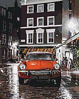 Картина по номерам Италия Красное авто (KH3512) 40 х 50 см