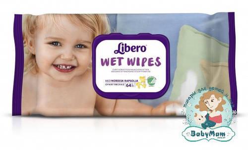 Детские влажные салфетки Libero Easy Change, 64 шт.