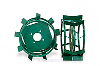 Колеса с грунтозацепами Ø 450 мм (квадрат 12х12, высота зацепа 40 мм) Агромарка